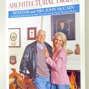 JULY 2005 ARCHITECTURAL DIGEST John McCain